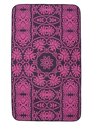 Hamur Batik 75x125 cm Banyo Paspası Kaymaz Taban Banyo Halısı Mor